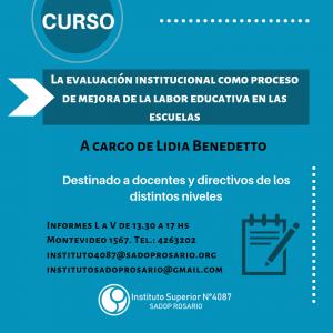 Lee más sobre el artículo Curso: La evaluación institucional